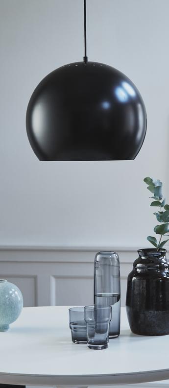 Suspension ball noir mat o40cm h33cm frandsen normal