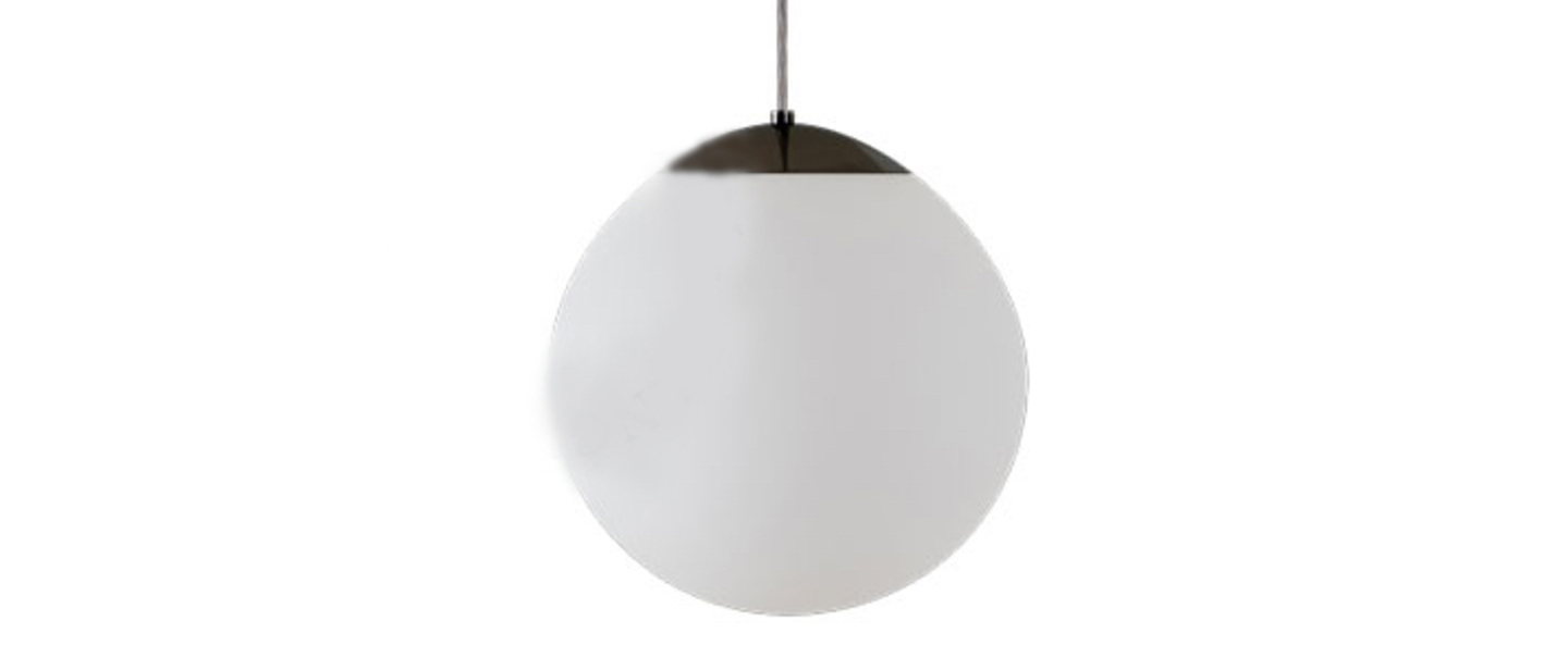Suspension ball noir o30cm hcm zangra normal
