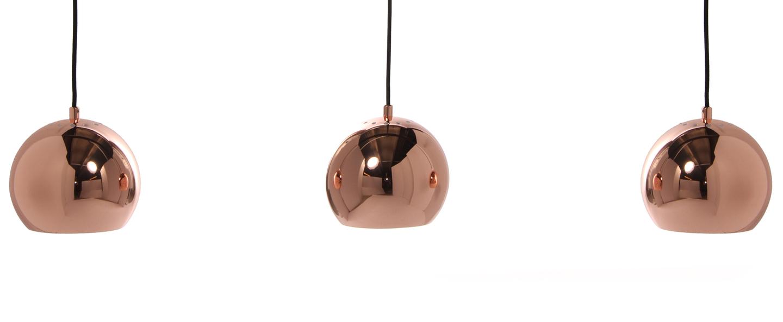 Suspension ball track cuivre l100cm h169cm frandsen normal