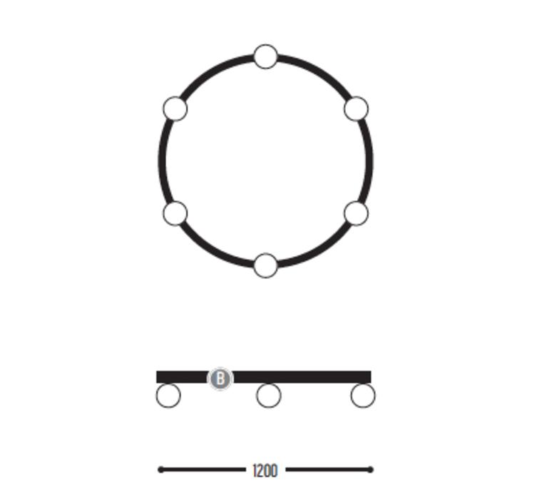 Ballzzz one 1200 anthony boelaert suspension pendant light  dark 1915 02 906002 01 0  design signed nedgis 69432 product