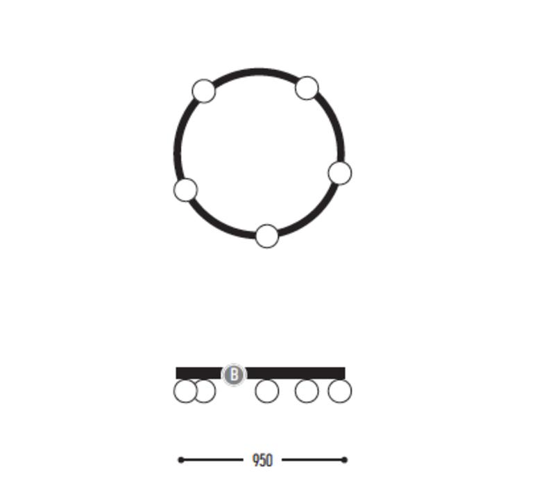 Ballzzz one 950 anthony boelaert suspension pendant light  dark 1913 02 906002 01 0  design signed nedgis 69429 product