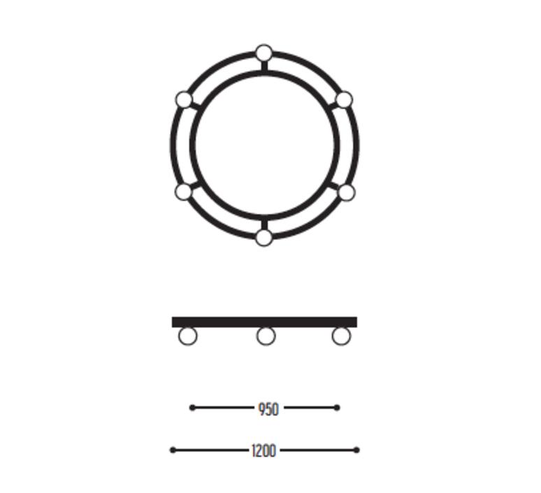 Ballzzz two 1200 anthony boelaert suspension pendant light  dark 2003 02 906002 01 0  design signed nedgis 69442 product