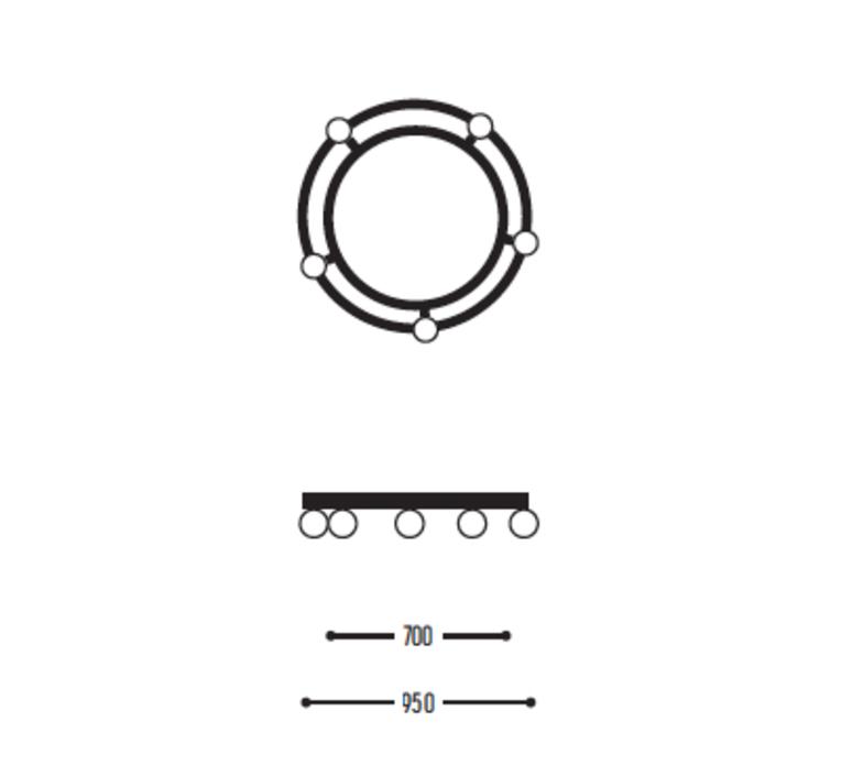 Ballzzz two 950 anthony boelaert suspension pendant light  dark 2001 02 906002 01 0  design signed nedgis 69436 product