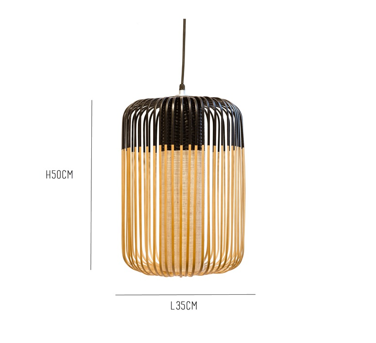 Bamboo light l black arik levy forestier al32170lba luminaire lighting design signed 27311 product