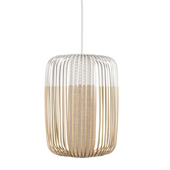 Suspension bamboo light l blanc o35cm h50cm forestier normal