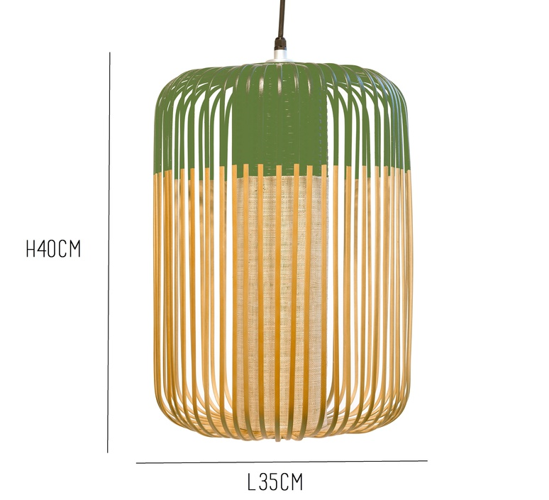 Bamboo light l green arik levy forestier al32170lgr luminaire lighting design signed 27337 product