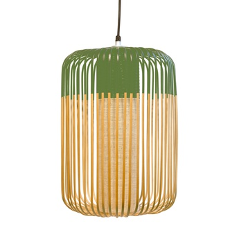 Suspension bamboo light l green bambou vert h50cm forestier normal