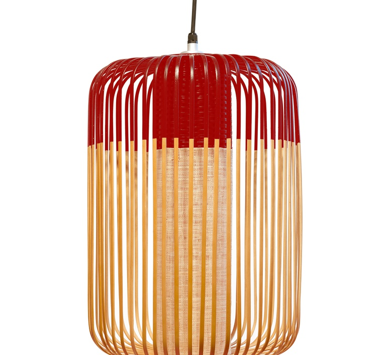 Bamboo light l red  arik levy forestier al32170lrd luminaire lighting design signed 27338 product