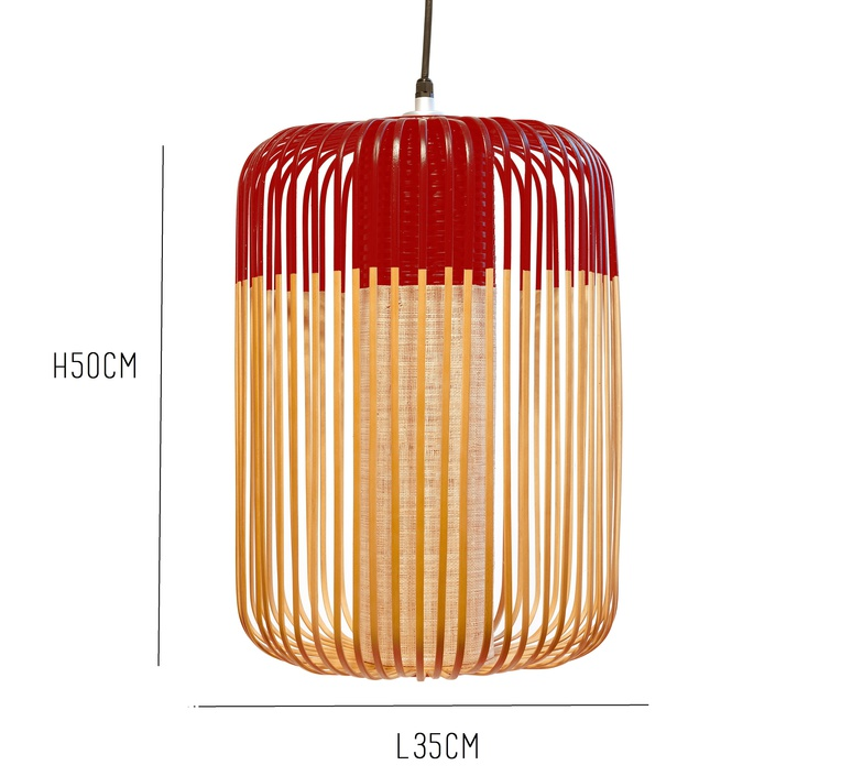 Bamboo light l red  arik levy forestier al32170lrd luminaire lighting design signed 27339 product