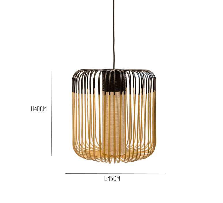 Bamboo light m black arik levy forestier al32170mba luminaire lighting design signed 27314 product