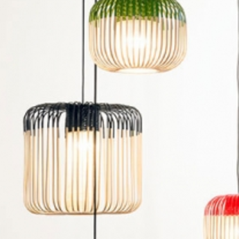 suspension bamboo light m black bambou noir h40cm 45cm forestier luminaires nedgis. Black Bedroom Furniture Sets. Home Design Ideas