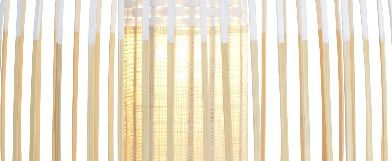 Suspension bamboo light m blanc o45cm cm forestier normal