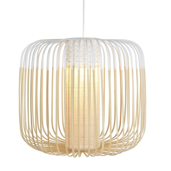 Suspension bamboo light m blanc o45cm cm forestier normal