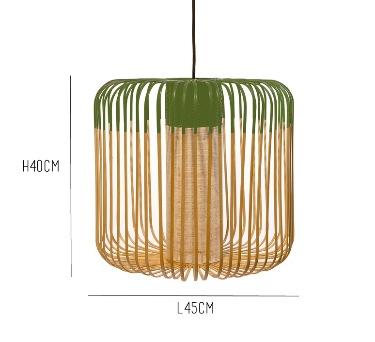 Bamboo light m green arik levy forestier al32170mgr luminaire lighting design signed 27341 product
