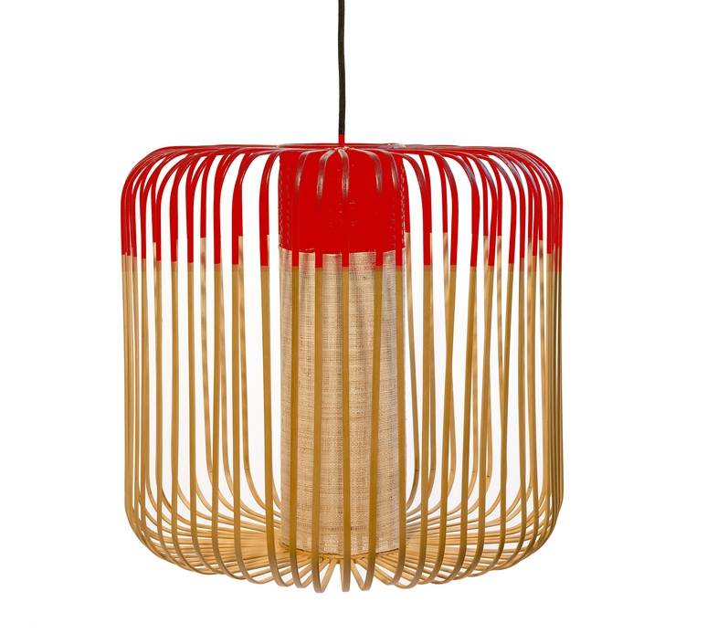 Bamboo light m red arik levy forestier al32170mrd luminaire lighting design signed 27343 product