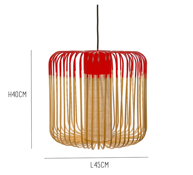 Bamboo light m red arik levy forestier al32170mrd luminaire lighting design signed 27344 product