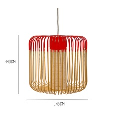 Bamboo light m red arik levy forestier al32170mrd luminaire lighting design signed 27344 thumb