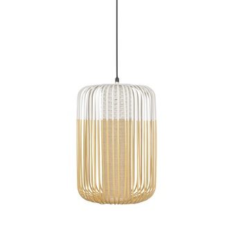 Suspension bamboo light outdoor l blanc o35cm h50cm forestier normal