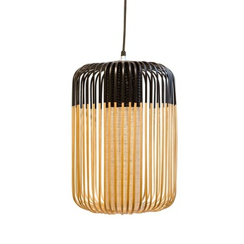 Suspension bamboo light outdoor l noir o35cm h50cm forestier normal