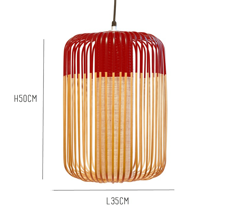 Bamboo light outdoor l  suspension pendant light  forestier 20126  design signed 53933 product