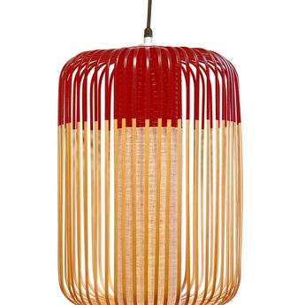 Suspension bamboo light outdoor l rouge o35cm h50cm forestier normal