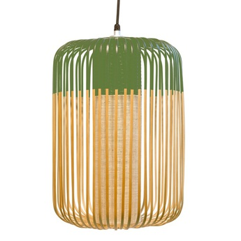 Suspension bamboo light outdoor l vert o35cm h50cm forestier normal