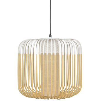 Suspension bamboo light outdoor m blanc o45cm h40cm forestier normal