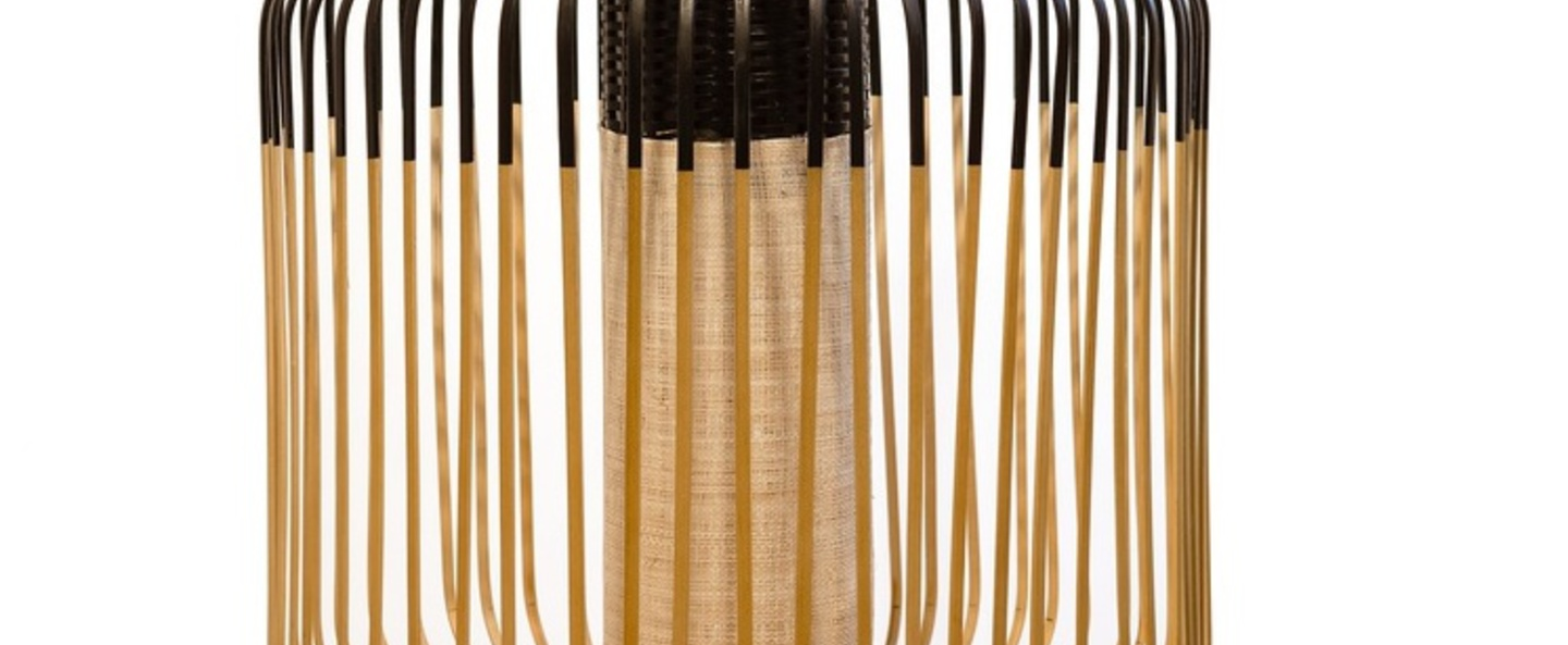 Suspension bamboo light outdoor m noir o45cm h40cm forestier normal