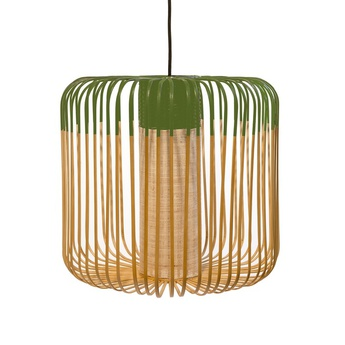 Suspension bamboo light outdoor m vert o45cm h40cm forestier normal