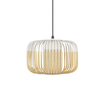 Suspension bamboo light outdoor s blanc o35cm h23cm forestier normal