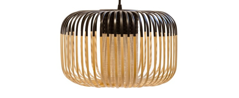 Suspension bamboo light outdoor s noir o35cm h23cm forestier normal