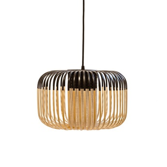 Suspension bamboo light outdoor s noir o35cm h23cm forestier normal