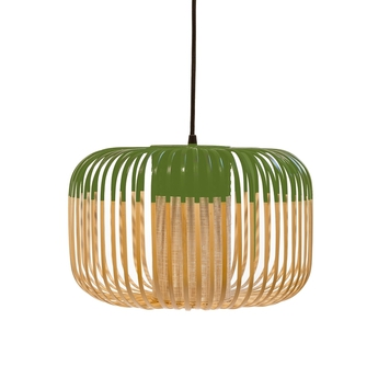 Suspension bamboo light outdoor s vert o35cm h23cm forestier normal