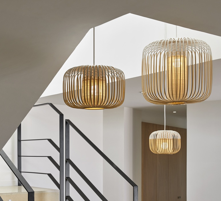 Bamboo light outdoor xs  suspension pendant light  forestier 21107  design signed 53911 product