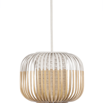 Suspension bamboo light outdoor xs blanc o27cm h20cm forestier normal