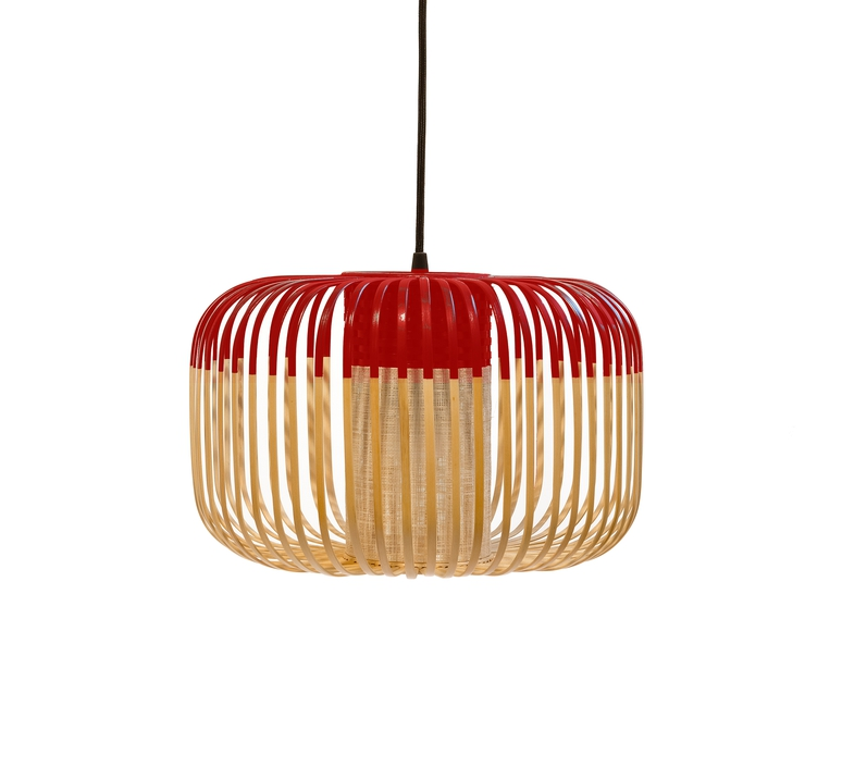 Bamboo light s red arik levy forestier al32170srd luminaire lighting design signed 27349 product
