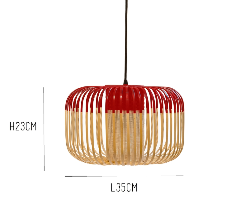 Bamboo light s red arik levy forestier al32170srd luminaire lighting design signed 27350 product