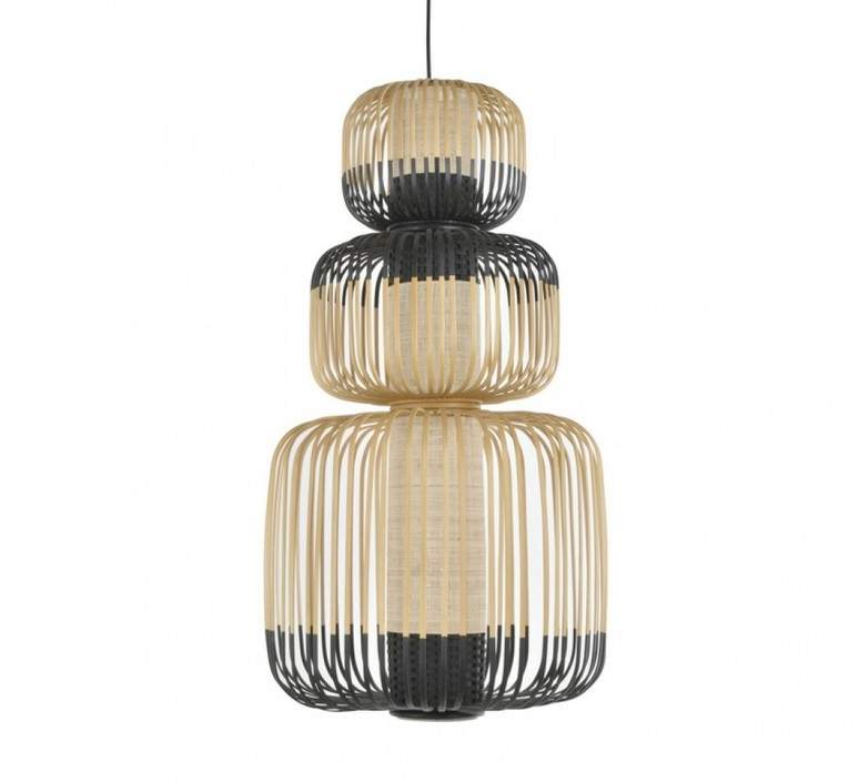 Bamboo light totem arik levy suspension pendant light  forestier totem 20136  design signed 43066 product