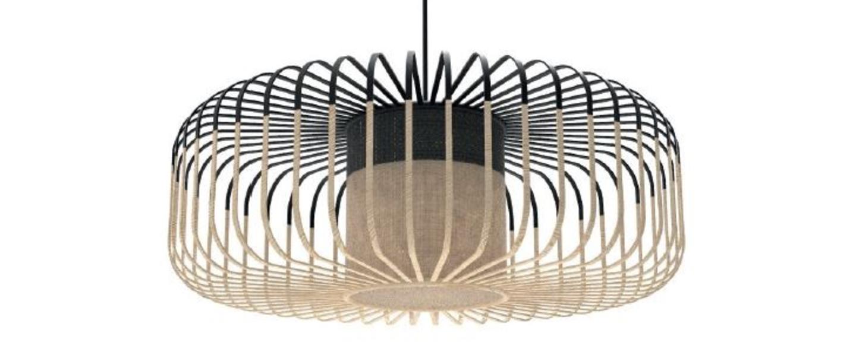 Suspension bamboo light xl noir o60cm h20cm forestier normal