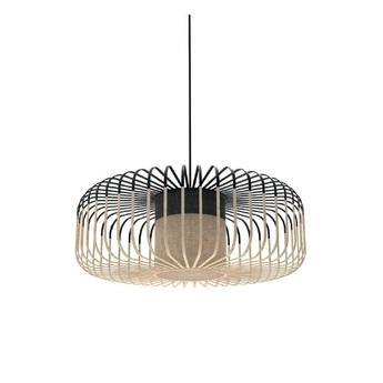 Suspension bamboo light xl noir o60cm h20cm forestier normal