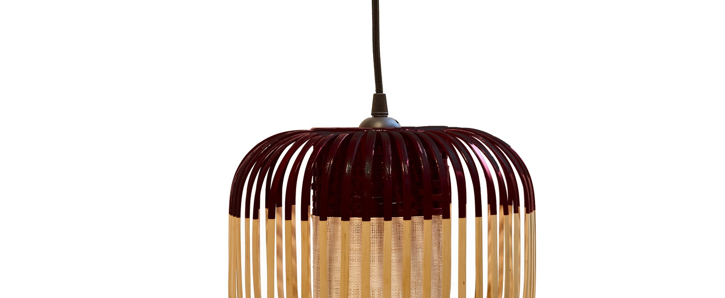 Suspension bamboo light xs black bambou noir o27cm forestier normal