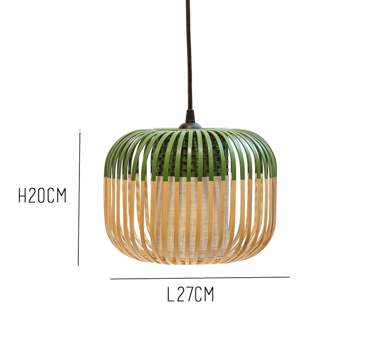 Bamboo light xs green arik levy forestier al32170xsgr luminaire lighting design signed 27352 product