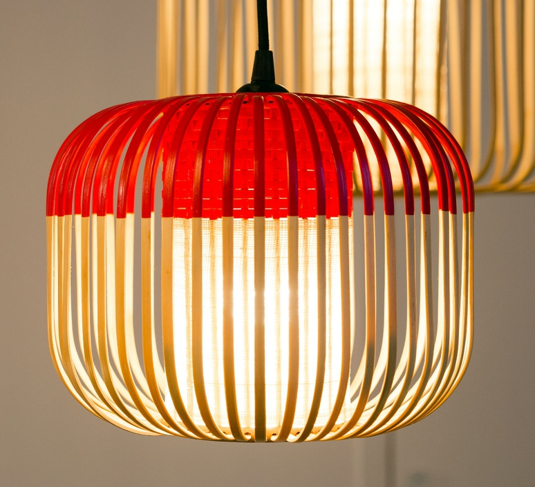 Bamboo light xs red arik levy  forestier al32170xsrd luminaire lighting design signed 27353 product