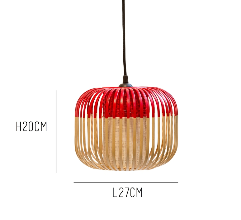 Bamboo light xs red arik levy  forestier al32170xsrd luminaire lighting design signed 27355 product