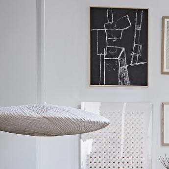 Suspension bamboo paper blanc o82cm h21cm hk living normal