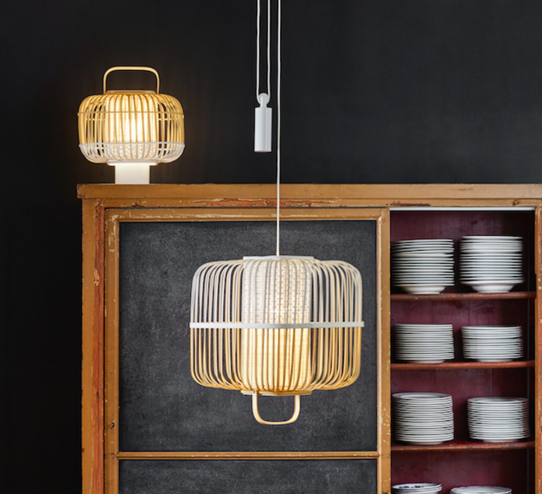 Bamboo square m arik levy suspension pendant light  forestier 21152  design signed 70096 product