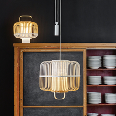 Bamboo square m arik levy suspension pendant light  forestier 21152  design signed 70096 thumb