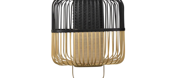 Suspension bamboo square m noir o52cm h43cm forestier normal