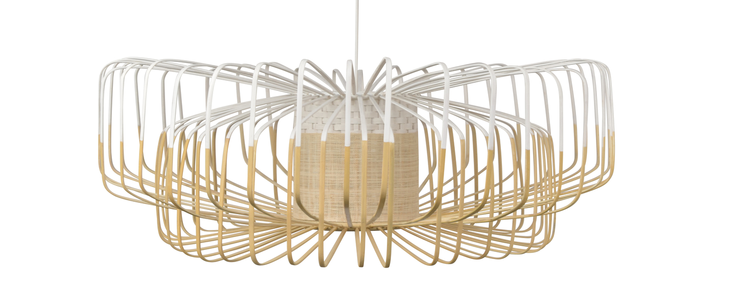 Suspension bamboo up and down xxl blanc o80cm h26cm forestier normal