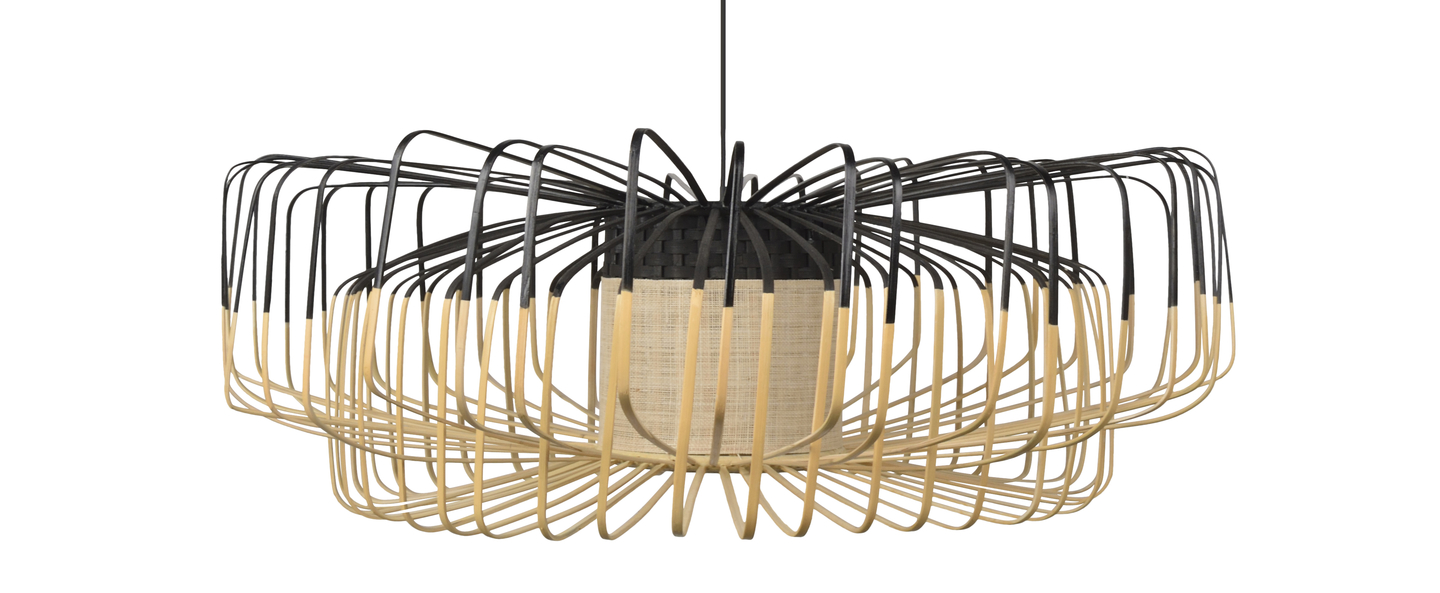Suspension bamboo up and down xxl noir o80cm h26cm forestier normal